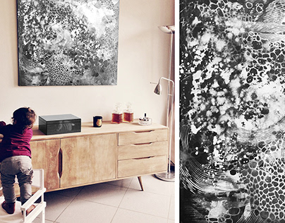 Hand-drawn artworks for interiors