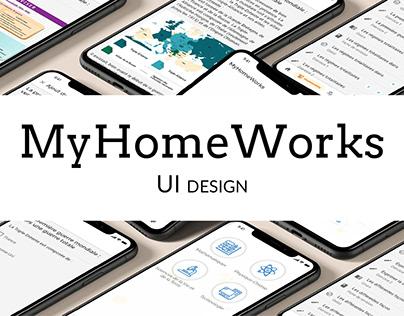MyHomeWorks - UI Design
