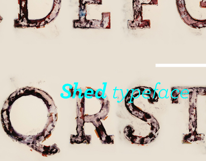 SHED typeface