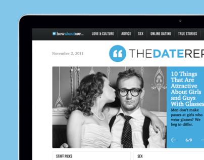 The Date Report website