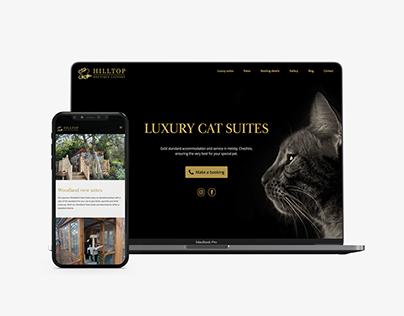 Hilltop Boutique Cattery responsive website design