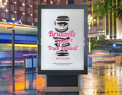 Brussels food truck festival - poster