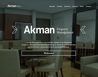 Akman Property Management - Web Design
