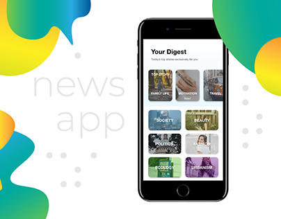 News App Design Concept - Case Study