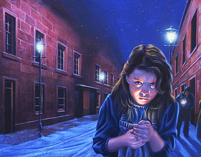 "Children's Book Cover, ""The Little Match Girl"""