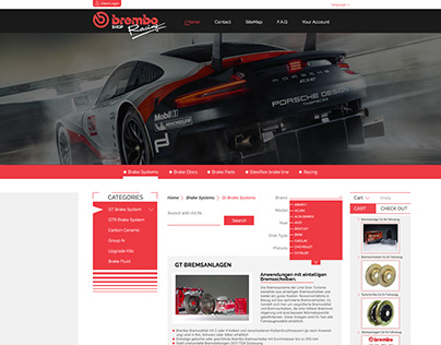 Brembo Shop (Web Design)