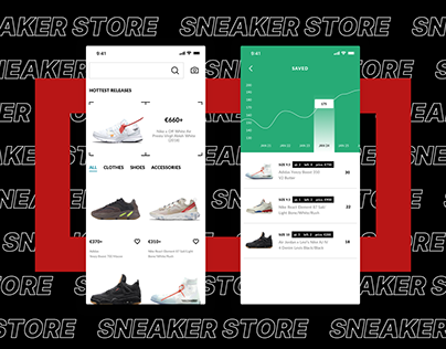E-Commerce App for limited sneakers (Nike,Supreme, ...)