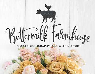 Buttermilk Farmhouse Script + Vectors