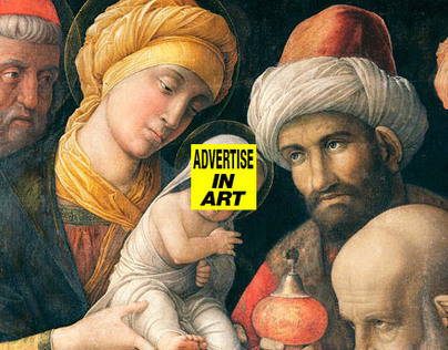 Advertise in art