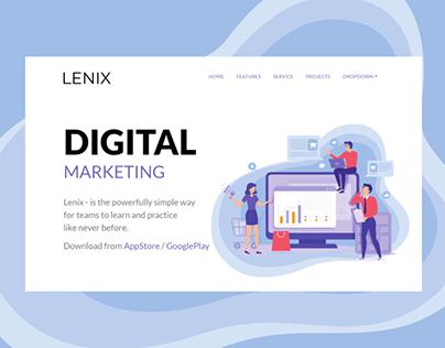 LENIX | Bootstrap Template