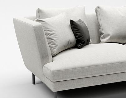 Bonaldo Lars sofa 3d-modeling