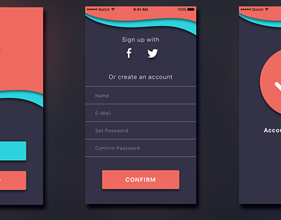 Sign-Up Screen Elements