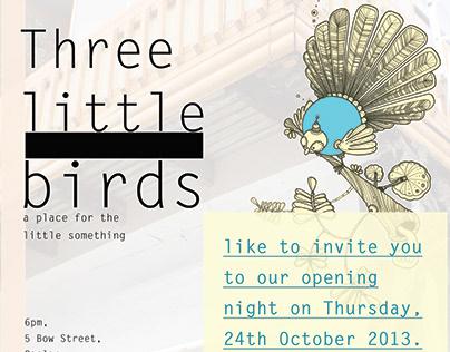 Graphic Design for Three Little Birds