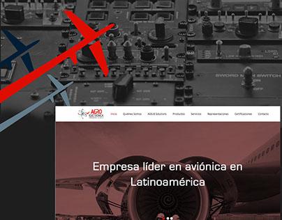 AERO Electronica website UI