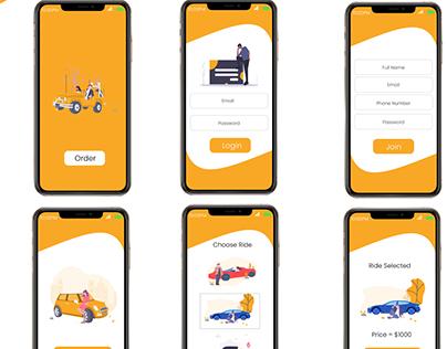 Ride Order Mobile UI/UX Design