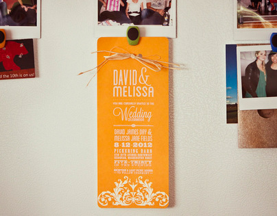 David & Melissa // Wedding Invite