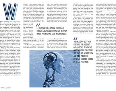 Magazine Layout Sample