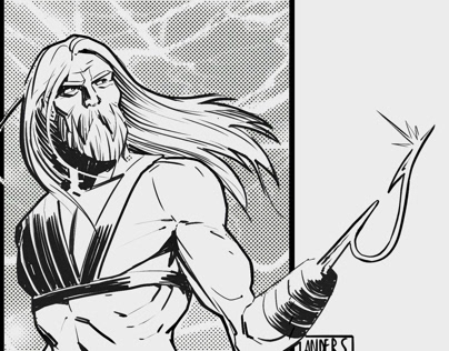 Superhero character sketches