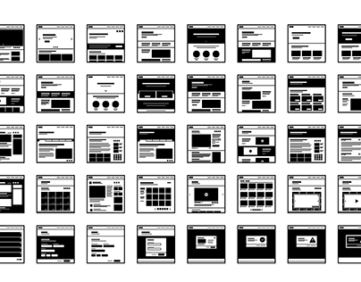 Website Wireframes Icon Kit