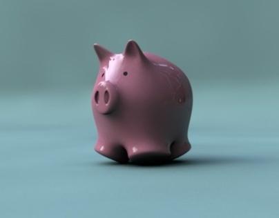 Piggy Bank Slow Motion