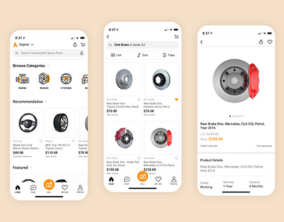 Spare Parts for Cars - Mobile App