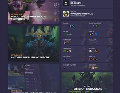 Guild Website - Forgotten Champions