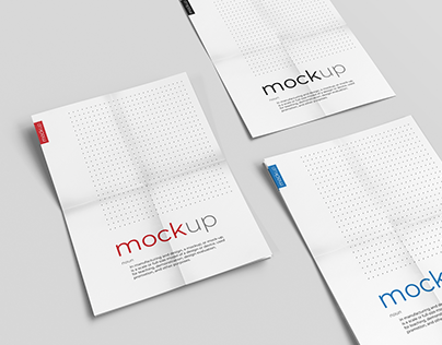Creased Paper Mockup