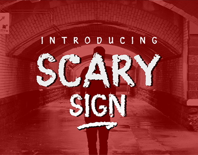 Scary Sign - dispaly font