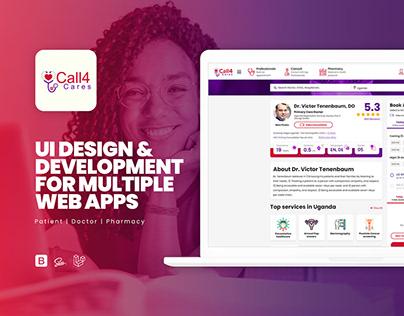 Call4Cares Design & Development for multiple Web Apps