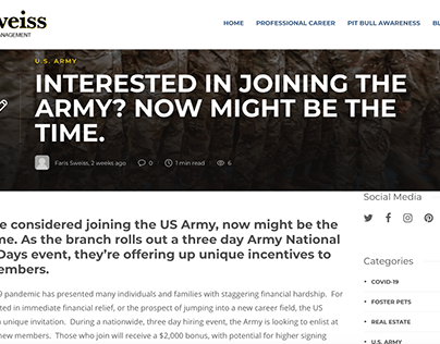 Interested in Joining the Army? Now Might be the Time
