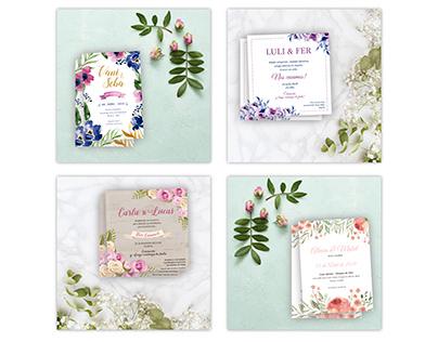 Diseños de Invitaciones - Casamientos
