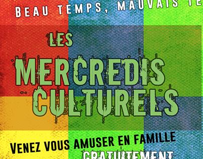 """Poster - """"Les Mercredis Culturels"""""""