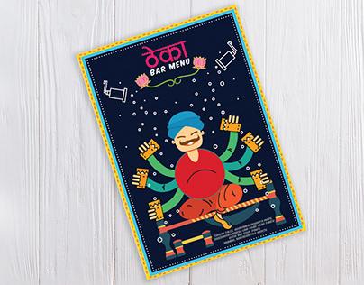 Turban Tales: Bar Menu, India