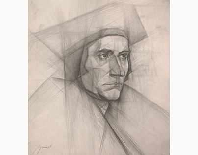 analysis drawing of Sir Thomas More by Holbein