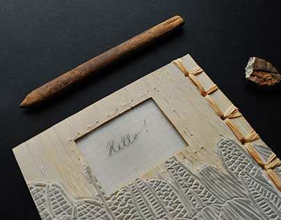 Upcycled linoleum notebooks