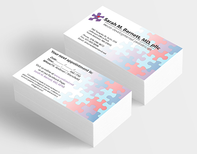 Sarah M. Barnett, MD, pllc. Business Card Design