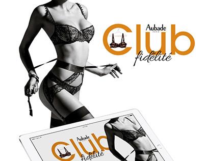 Aubade Fidelity Club application ipad