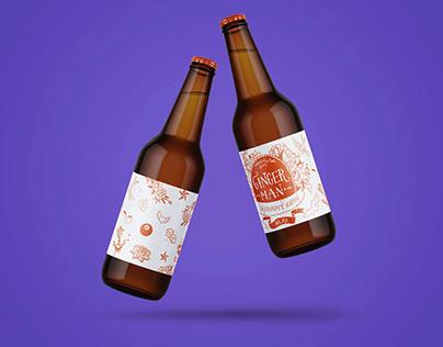 Ginger beer etiquettes