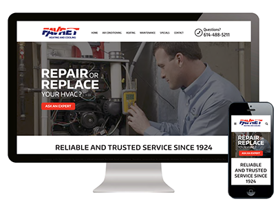 Favret Heating & Cooling | Website Design