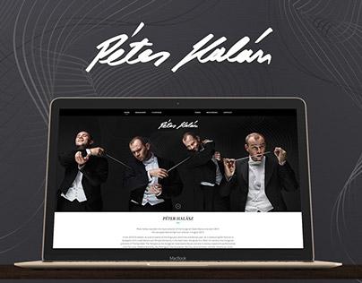 Peter Halasz branding and website