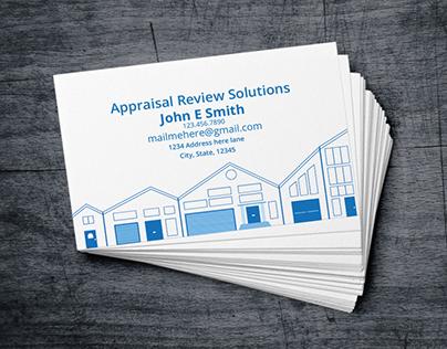 Appraisal Review Business Card design