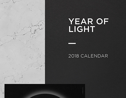 Year of light - 2018 Calendar