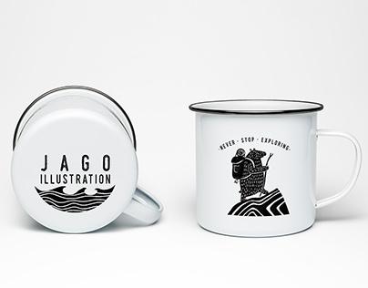 Etched Enamel Mug Designs