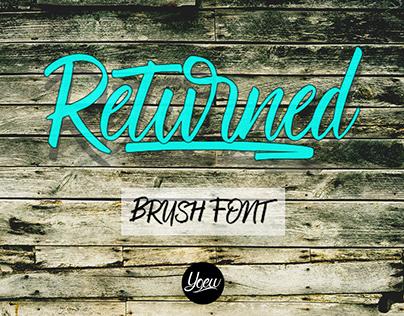Free Returned Brush Font