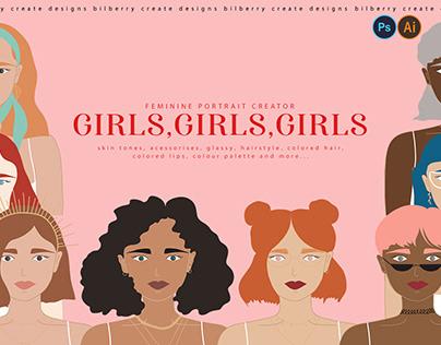 GIRLS,GIRLS,GIRLS portrait creator