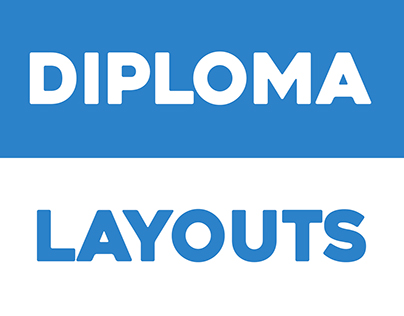Diploma layouts for certain events