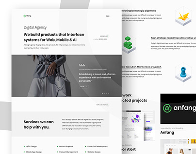 Digital Agency Branding and UI