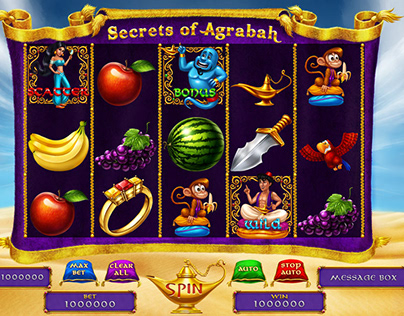 "Online slot machine – ""Secrets of Agrabah"""