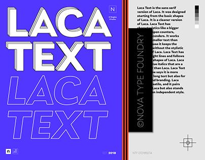 Laca Text a clean sans serif