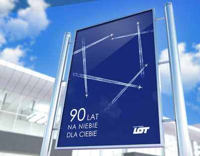 Competition poster Polish Airlines LOT 90th Anniversary